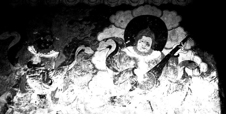 ODE TO ENLIGHTENMENT | A millennia old painting of a Buddha playing a lute | Ladakh