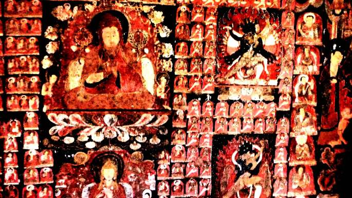 MYSTIC MONTAGE |Amazing artwork by medieval Kashmiri and Ladakhi sages outside Saspol | Ladakh